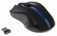Мышка беспроводная Oklick 615MW черный/синий оптическая (1000dpi) беспроводная USB (2but)