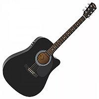 Электро-акустическая гитара Fender Squier SA-105CE Dreadnout Black