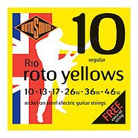Струны для электрогитары Rotosound Roto Yellows R10
