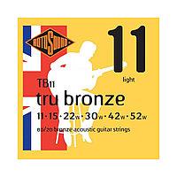 Струны для акустической гитары Rotosound Tru Bronze TB11 80/20
