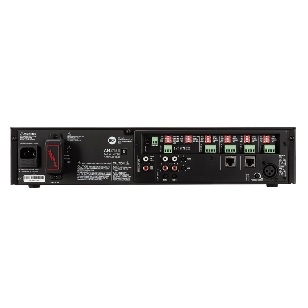 Микширующий трансляционный усилитель RCF AM 2160 - фото 5