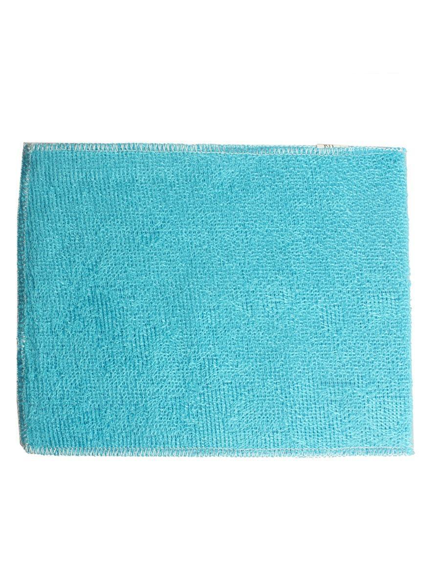 Бамбуковая салфетка для мытья посуды 18х23 см голубой