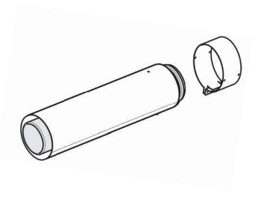 Удлинитель 1 м. DN 60/100- 0020257008