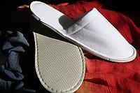 Тапочки одноразовые велюровые, подошва 5 мм, закрытый носок
