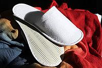 Тапочки одноразовые махровые, подошва 5 мм, закрытый носок