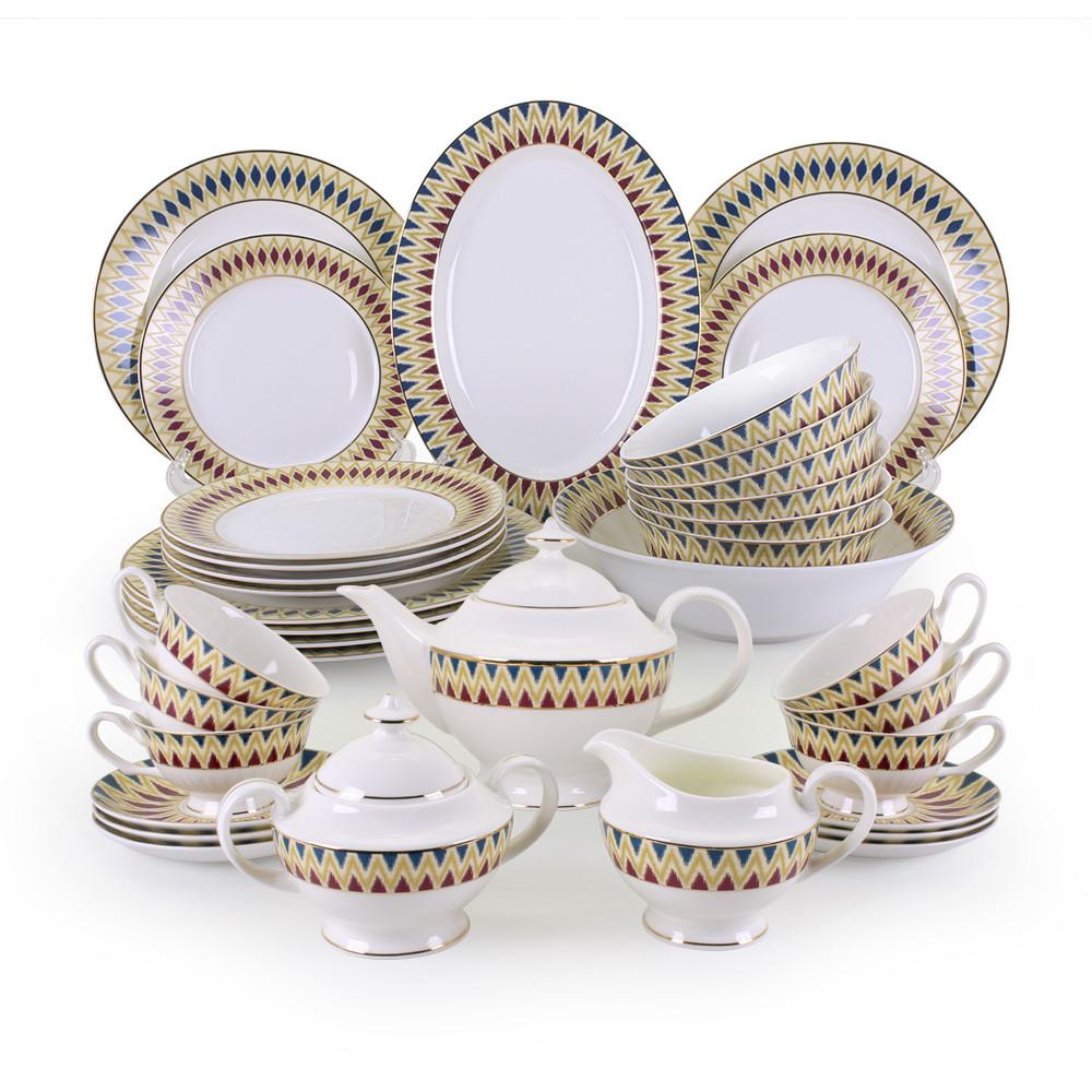 Салтанат столово-чайный сервиз с пиалами на 12 персон