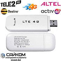 4G USB Wi-Fi Wireless Модем Altel, Tele 2, Activ, Beeline / 150 Мбит/с