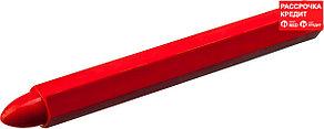 ЗУБР 6 шт, красные, мелки разметочные восковые 06330-3