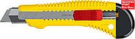 STAYER 18 мм, сегментированное лезвие, металлический, сдвижной фиксатором FORCE-M, нож 0913_z01