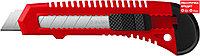 ЗУБР 18 мм, сегментированное лезвие, АБС пластик, сдвижной фиксатор АБС-18, нож 09155_z01