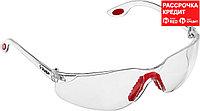 ЗУБР прозрачный, двухкомпонентные дужки, очки защитные Спектр 3 110315