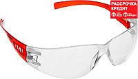 ЗУБР прозрачный, пластиковые дужки, очки защитные Мастер 110325