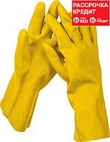 STAYER L, с х/б напылением, рифлёные, перчатки латексные хозяйственно-бытовые OPTIMA 1120-L_z01