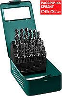 KRAFTOOL 25 шт. (Ø 1-13 мм), класс A, HSS-G, сталь М2(S6-5-2), набор сверл по металлу 29651-H25