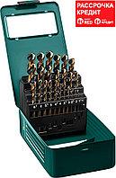 KRAFTOOL 25 шт. (Ø 1-13 мм), класс A, HSS-Co(8%), набор сверл по металлу 29656-H25