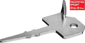 ЗУБР 200 шт, 60 х 30 мм, крепеж ключ с шипом для террасной доски 30705
