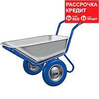 ЗУБР 260 кг, двухколесная, с П-образной ручкой, тачка строительная ПТ-500 39914