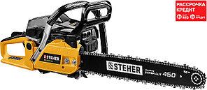 STEHER 2.6 кВт/ 3.5 л.с., 450мм, пила цепная бензиновая BS-58-45