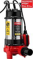 ЗУБР 1100 Вт, 245 л/мин, насос фекальный погружной для загрязненной воды НПФ-1100-Р