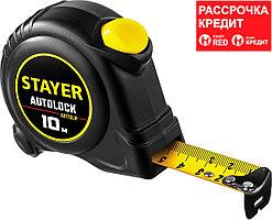 STAYER 10 м х 25 мм, с автостопом рулетка 2-34126-10-25