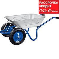 ЗУБР 280 кг, двухколесная, с цельной рамой, усиленная, тачка строительная ПТ-350 39913
