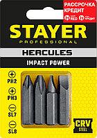 STAYER 4 шт, 36 мм, набор бит для ударной отвертки 25667-S4_z01
