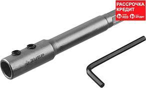 ЗУБР 140 мм, HEX 12.5 мм, удлинитель для сверл Левиса 2953-12-140