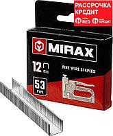 MIRAX скобы тип 53, 12 мм, скобы для степлера тонкие 3153-12