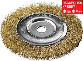 ЗУБР Ø 200 мм, проволока 0.3 мм, щетка дисковая для УШМ 35187-200_z01 Профессионал
