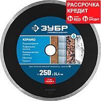 ЗУБР Ø 250х25.4 мм, алмазный, сплошной, диск отрезной КЕРАМО 36655-250_z02 Профессионал