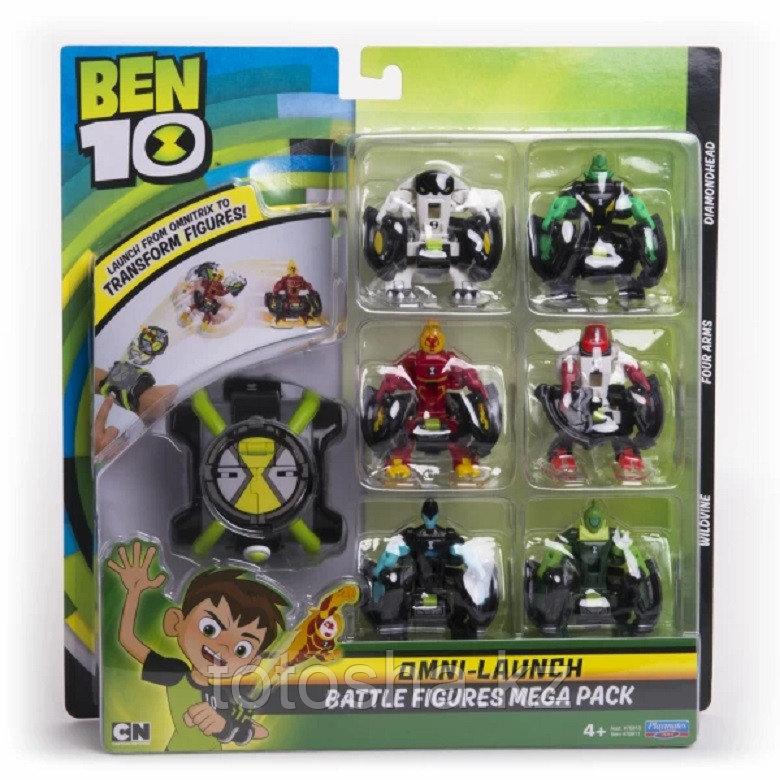Ben 10 Набор Омнизапуск Mega Pack : часы и 6 фигурок , 76811