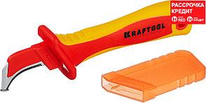 """KRAFTOOL 200 мм, изогнутый, с """"пяткой"""", нож диэлектрический KN-7 45400"""