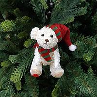 """Украшение игрушка на новогоднюю ёлку """"Медвежонок"""" 10 см"""