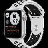 Apple Watch Nike Series 6 GPS, 44mm Silver Aluminium Case with Pure Platinum/Black Nike Sport Band - Regular