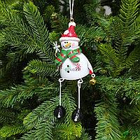 """Украшение игрушка на новогоднюю ёлку """"Снеговичок"""""""