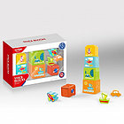 Игровой набор ПИРАМИДКА HAUNGER: 5 стаканчиков,3 игрушки (в кор.24шт.)