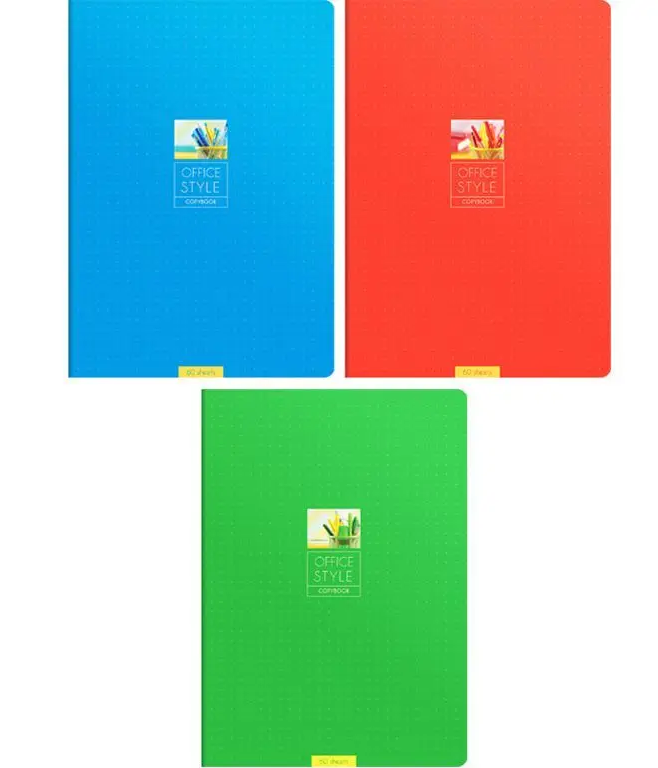 """Тетрадь общая ArtSpace """"Моноколор. Office style"""", А4, 60 листов в клетку, на скрепке"""