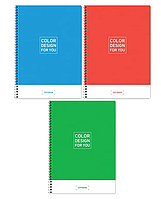 """Тетрадь общая ArtSpace """"Моноколор. Color design"""", А4, 80 листов в клетку, на спирали"""