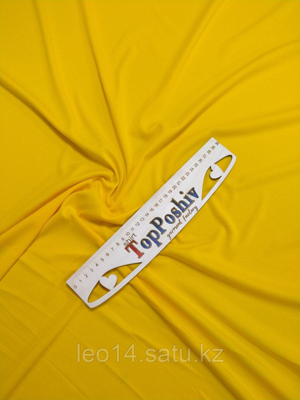 "Ткань Прима Микрофибра ""ЛЕТО Премиум Плюс"", Термотрансфер, 168 см, Желтая канарейка"