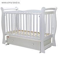 Кроватка детская «Валенсия-6», маятник, ящик, размер 120 x 60 см, белый