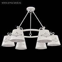 Люстра Aurora 6x40Вт E14 белый 84,2x84,2x63см
