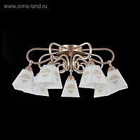 Люстра Silvana 7x60Вт E14 золото 70x70x28см