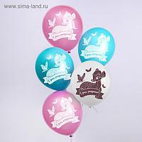 """Воздушные шары """"С Днем Рождения!"""", Бемби, 12 дюйм (набор 5 шт)"""