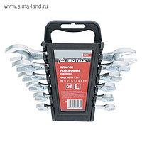 Набор ключей рожковых MATRIX, 6 х 17 мм, 6 шт., CrV, хромированные