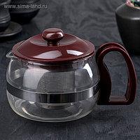 Чайник заварочный Magistro «Бруно», с ситом, 750 л, цвет коричневый