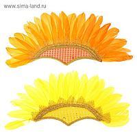 Карнавальный головной убор «Перья», на резинке, цвета МИКС