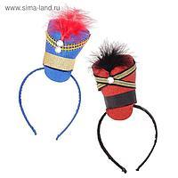 Карнавальный ободок «Гусар», цвета МИКС