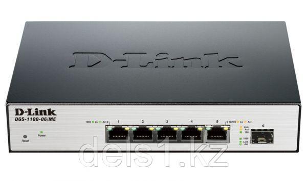 Управляемый коммутатор  D-link DGS-1100-06/ME