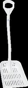 Эргономичная лопата с перфорированным полотном, 380 x 340 x 90 мм., 1145 мм