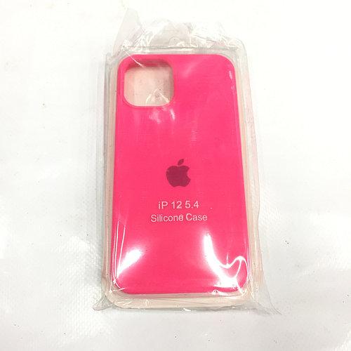 Розовый чехол для Iphone 12 Silicon Case